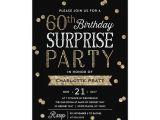 Surprise 60th Birthday Invitation Sayings 60th Glitter Confetti Surprise Party Invitation