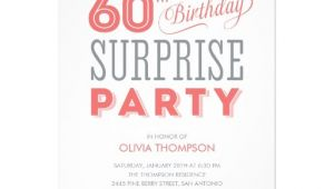 Surprise 60th Birthday Invitation Sayings 60th Surprise Birthday Invitations