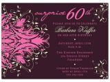 Surprise 60th Birthday Invitation Sayings andromeda Pink Surprise 60th Birthday Invitations
