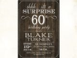 Surprise 60th Birthday Invitation Wording Ideas Surprise 60th Birthday Invitation Any Age Rustic