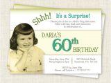 Surprise 60th Birthday Invitation Wording Samples Surprise 60th Birthday Invitation Digital Printable File