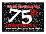 Surprise 75th Birthday Invitation Templates 75th Surprise Birthday Party Invitation Template 13 Cm X