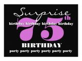 Surprise 75th Birthday Invitation Templates 75th Surprise Purple Birthday Party Template Zazzle