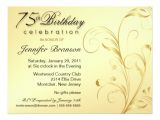 Surprise 75th Birthday Invitations Wording 75th Birthday Surprise Party Gold Floral Large 6 5×8