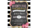 Surprise 75th Birthday Invitations Wording 75th Surprise Luncheon Birthday Party Invitation Zazzle