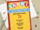 Surprise 75th Birthday Party Invitations Colorful Surprise Party Invitations