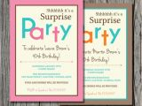 Surprise Bachelorette Party Invitations Surprise Birthday Invitation Printable by Pegsprints On Etsy