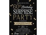 Surprise Birthday Brunch Invitations 60th Glitter Confetti Surprise Party Invitation