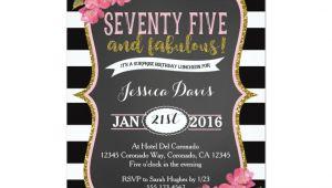 Surprise Birthday Brunch Invitations 75th Surprise Luncheon Birthday Party Invitation