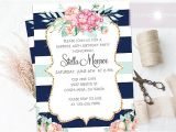 Surprise Birthday Brunch Invitations Surprise Birthday Invite Birthday Brunch Invitation Floral