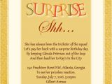 Surprise Birthday Invitation Wording Surprise Birthday Party Invitation Wording Wordings and