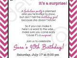 Surprise Birthday Party Invitation Wording Chevron Surprise Party Invitation