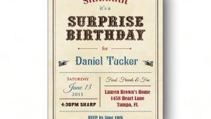 Surprise Birthday Party Invitations for Adults Adult Surprise Birthday Invites Vintage Surprise Party