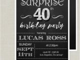 Surprise Birthday Party Invitations for Adults Surprise 40th Birthday Invitation Adult Birthday