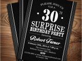 Surprise Birthday Party Invitations Templates Free Download Surprise Adult Birthday Party Invitation Digital Printable