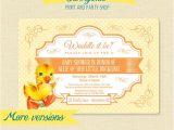 Surprise Gender Baby Shower Invitations Duck Baby Shower Invitation Duckling Printable Invite