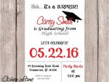 Surprise Graduation Party Invitations Graduation Party Invitation Graduation Invite High School