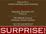 Surprise Party Invitation Template Surprise Party Invitation Sample