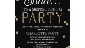 Surprise Party Invitation Template Uk Shh Surprise Birthday Party Faux Glitter Confetti