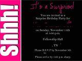 Surprise Party Invitation Templates Surprise Party Invitation Wording Template Best Template