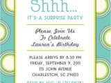 Surprise Party Invitations Ideas Polka Dot themed Surprise Party