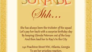 Surprise Party Invite Wording Surprise Birthday Party Invitation Wording Wordings and