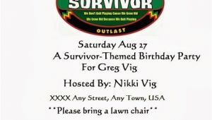 Survivor Party Invitations Survivor 40th Birthday Party Nikki Lynn Design