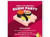 Sushi Party Invitation 8 Sushi Party Birthday Invitations
