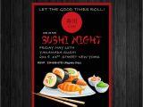 Sushi Party Invitation Sushi Night Invite Custom Printable asian themed Invitation