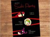 Sushi Party Invitation Sushi Party Custom Invitation