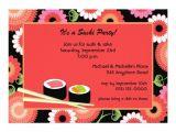Sushi Party Invitation Sushi Party Invitation 5 Quot X 7 Quot Invitation Card Zazzle