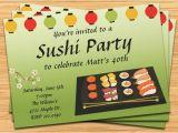 Sushi Party Invitation Sushi Party Invitation
