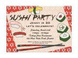 Sushi Party Invitation Sushi Party Invitation Zazzle