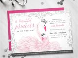 Swan Baby Shower Invitations Baby Shower Invitation Princess Swan theme Digital File