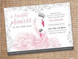 Swan Baby Shower Invitations Baby Shower Invitation – Princess Swan theme Digital File