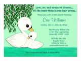 Swan Baby Shower Invitations Personalized Swan Baby Shower Invitations