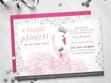 Swan Princess Baby Shower Invitations Baby Shower Invitation Princess Swan theme Digital File
