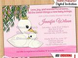 Swan Princess Baby Shower Invitations Swan Princess Baby Shower Invitations Pink Swans Girl Girls