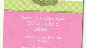 Sweet Pea Baby Shower Invitations Sweet Pea In A Pod Baby Shower Invitation