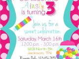 Sweet Shop Birthday Party Invitations Candy Sweet Shop Birthday Party Invitations by