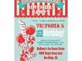 Sweet Shop Birthday Party Invitations Candy Sweet Shoppe Birthday Party Invitation