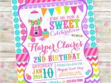 Sweet Shop Birthday Party Invitations Candyland Invite Sweet Shoppe Sweet Shop Birthday Sweet