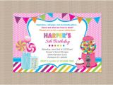 Sweet Shop Birthday Party Invitations Sweet Shoppe Birthday Party Invitation Candy by Honeyprint