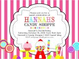 Sweet Shop Birthday Party Invitations Vintage Candy Sweet Shoppe Birthday Invite Dimple Prints