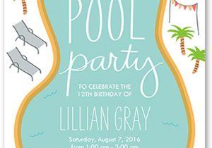Swim Party Invites 18 Birthday Invitations for Kids Free Sample Templates