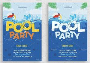 Swim Party Invites 28 Pool Party Invitations Free Psd Vector Ai Eps