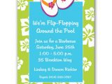 Swim Party Invites Beach Flip Flops Pool Party Invitations Paperstyle