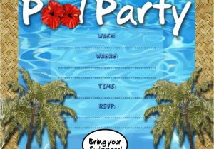 Swim Party Invites Free Kids Party Invitations Pool Party Invitation