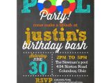 Swim Party Invites Pool Party Chalk Invitations Paperstyle