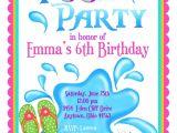 Swim Party Invites Pool Party Invitations Personalized Invitations Girl